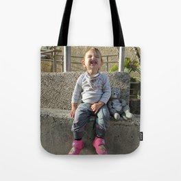 Kid and Friend Tote Bag