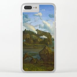 The Tarn by Lars Hertervig (1865) Clear iPhone Case