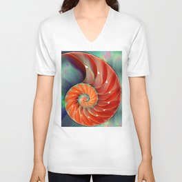 Nautilus Shell - Nature's Perfection by Sharon Cummings Unisex V-Neck
