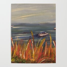 Boats on the Water Poster