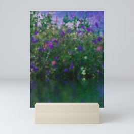 Painted Blue And Green Water Reflection  Mini Art Print