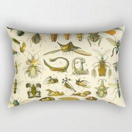 "Adolphe Millot ""Insectes"" Nouveau Larousse 1905 Rectangular Pillow"