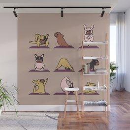 French Bulldog Yoga Wall Mural