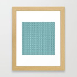 Knitted spring colors - Pantone Island Paradise Framed Art Print