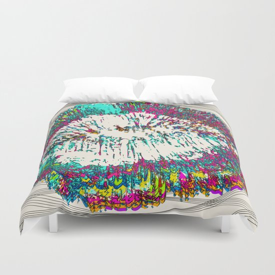 1000 Kisses Duvet Cover