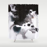 abyss Shower Curtains featuring Abyss by Naomi Shingler