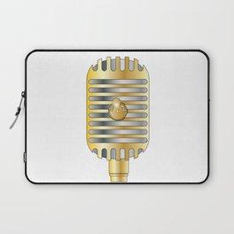 Golden Microphone Laptop Sleeve