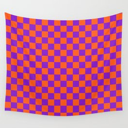 Checkered Pattern VIII Wall Tapestry