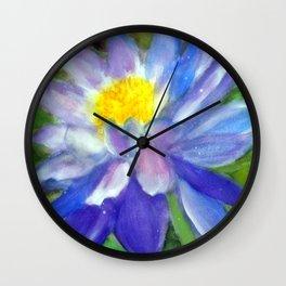 Blue Violet Lotus flower Wall Clock