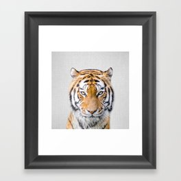 Tiger - Colorful Framed Art Print