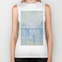 1899-Claude Monet-Charing Cross Bridge-65 x 80 Biker Tank