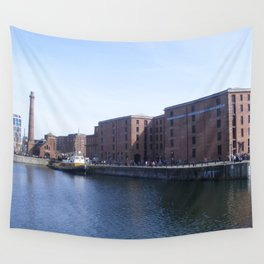 Pump house Pub and the Albert Dock Wall Tapestry