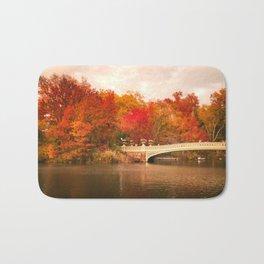 New York City Autumn Magic in Central Park Bath Mat