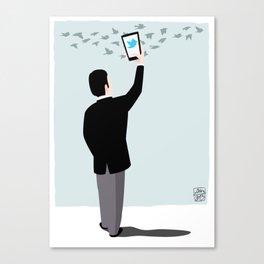 Serial Twitter Canvas Print