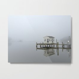 Eastern Branch Boat House Metal Print