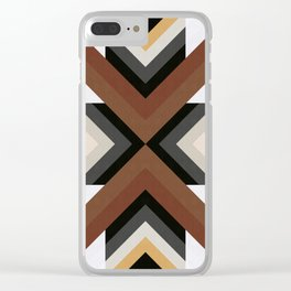 Geometric Art with Bands 05 Clear iPhone Case