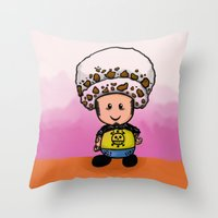 law Throw Pillows featuring Toads Law by Dama Chan