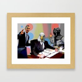 Eagle at the Office Framed Art Print