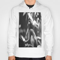 monkey Hoodies featuring Monkey  by Laura James Cook