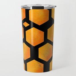 Bee in a Honeycomb Travel Mug