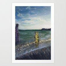 On the Shore: Peleus and Achilles Art Print