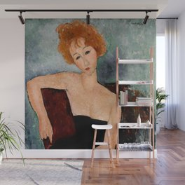 "Amedeo Modigliani ""Redheaded Girl in Evening Dress"" Wall Mural"