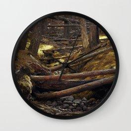 Dried up stream Wall Clock