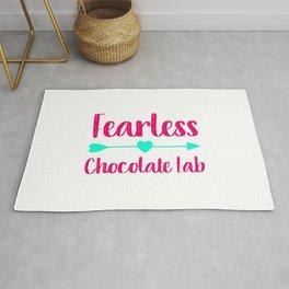 Fearless Chocolate Lab Fun Dog Rug