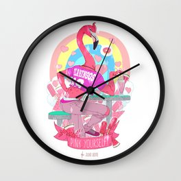 PINK Yourself Wall Clock
