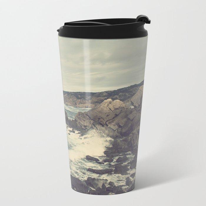 'Sea as far as you can see' Metal Travel Mug
