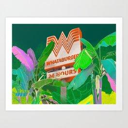 Whataburger in the Wild Art Print