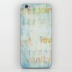 words iPhone & iPod Skin