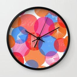 Bauhaus Bubbles - by Kara Peters Wall Clock