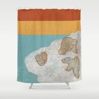 bears Shower Curtains featuring Bears by Ariel Wilson