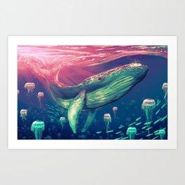 Life of Pi whale Art Print