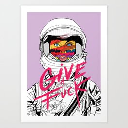 Give a Fuck Art Print
