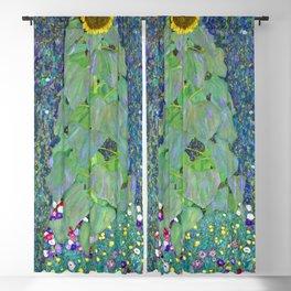 Gustav Klimt Sunflower Blackout Curtain