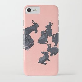 Black bunnies born from Manga ink iPhone Case