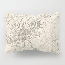 Vintage Map of Taunton MA (1915) Pillow Sham