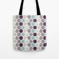 honeycomb Tote Bags featuring Honeycomb by Kathrin Legg