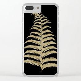 Fern Leaf Gold on Black #1 #ornamental #decor #art #society6 Clear iPhone Case