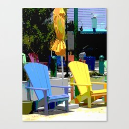 Brightly Colored Chairs Canvas Print
