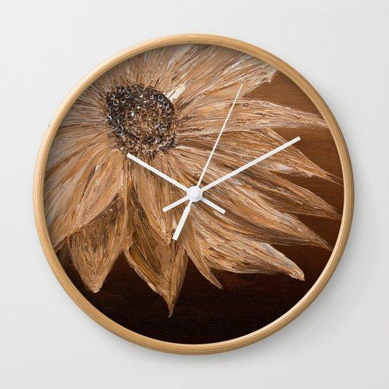 Sepia Wall Clock