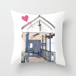 Victorian Cliff Lift Southend Throw Pillow