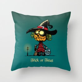 Trick or treat v2 Throw Pillow