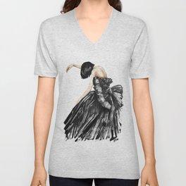 Sad Fashion / Emotional drawing Unisex V-Neck