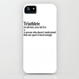 Funny Triathlon Definition iPhone Case