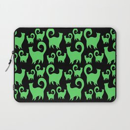 Green Snobby Cats Laptop Sleeve