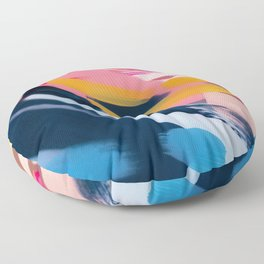 Even After All  #1 - Abstract on perspex by Jen Sievers Floor Pillow