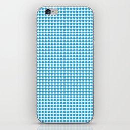Oktoberfest Bavarian Blue and White Small Diagonal Diamond Pattern iPhone Skin